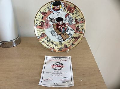 Danbury Mint Dennis And Gnasher Plate