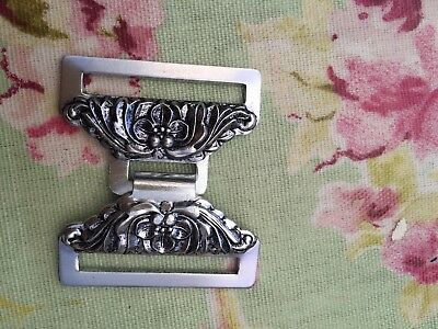 Vintage Silver Metal Belt Buckle Clasp Must Have Belt Fastener