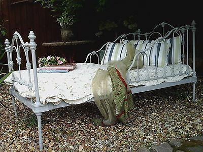 Antique French Chateau Decorative Iron Bed /Sofa/Daybed~Original Victorian 1800s