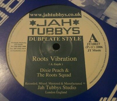 "DIXIE PEACH roots vibrations/ go to be humble10"" dubplate jah shaka killer roots"
