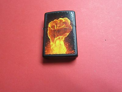 Zippo Lighter 2012 Black Matt Color = Flaming First = Never used  for Collection