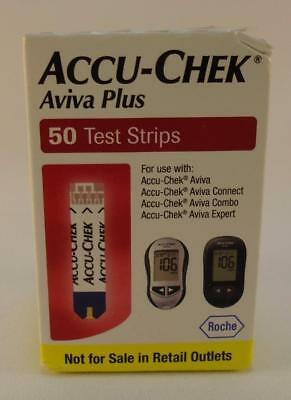 Accu-Chek Aviva Plus Test Strips 50 Count Box NFRS Exp 12/31/2018 Free Shipping