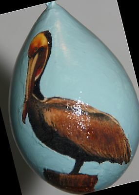 gourd garden or Christmas ornament with pelican