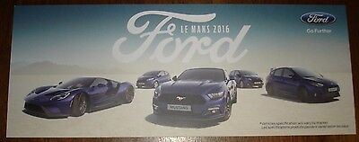 Le Mans 2016 WEC - Ford At Le Mans 2016 Card - Ford GT Ford Performance EcoBoost
