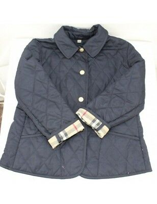 BURBERRY Big Girl's Navy Blue Quilted Jacket (size 110cm age 5-6)