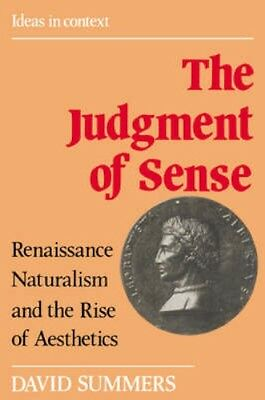 NEW The Judgment Of Sense by David Summers BOOK (Paperback) Free P&H