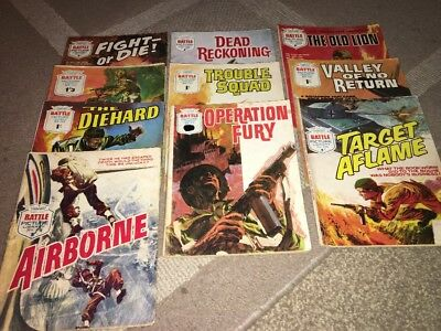 10 Battle Picture Library War Comics Fleetway Library