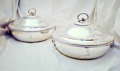 Paul Storr 1799 Pair Of Sterling Silver Covered Dishes   Very Rare & Important