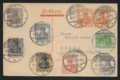 Allemagne Germany Kappelrodeck Germania Leipzig 1922 Lettre Cover Brief