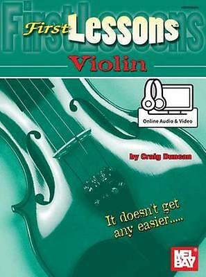 NEW First Lessons Violin by Dr Craig Duncan BOOK (Paperback / softback)