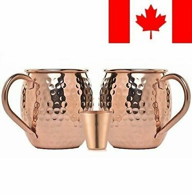 Moscow-Mix 100% Solid Pure Copper Moscow Mule Mug with FREE SHOT GLASS [16Oz]...