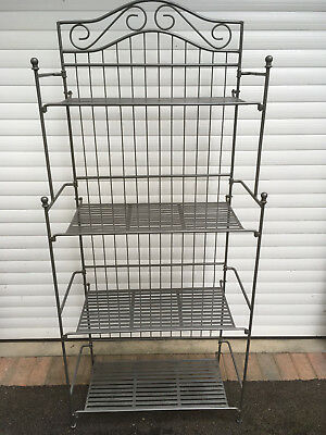 Wrought iron baker shelves