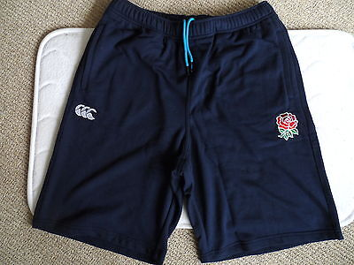 S / M / L Canterbury of NZ ENGLAND RUGBY NAVY FLEECE SHORTS New Tags Mens