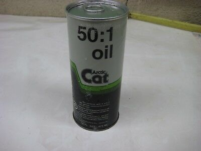 Vintage Gas & Oil 1 Pint Arctic Cat 50:1 Snowmobile 2 Cycle Motor Oil Can