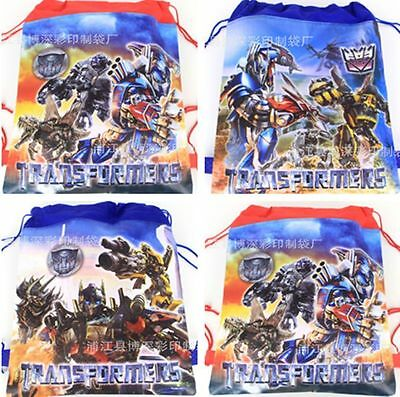 Transformers Kids Boys Non-Woven Drawstring Bag Swimming Backpack Bag 3 Style
