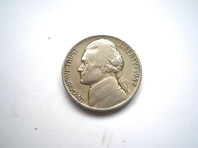 EARLY PRE WW11- JEFFERSON 5 CENT-COIN FROM THE USA -DATED 1938D-nice