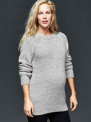 Gap Maternity NWT Gray Cozy Crew Pullover Sweater Large 12 14 $70