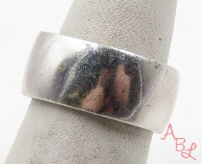 Sterling Silver Vintage 925 Squared Band Ring Sz 4.25 (6.6g) - 575528