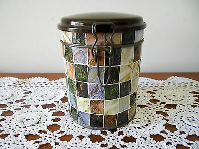 VINTAGE TIN CANISTER WITH BAKELITE LID HERMET BRAND SWISS MADE C1940s SEALABLE
