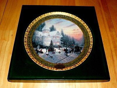 Thomas Kinkade Annual Collector Plate 2000 Victorian Christmas 2nd Issue