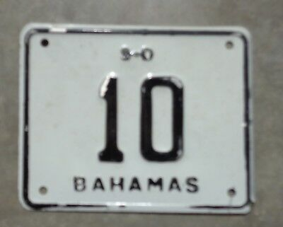 Bahamas S.D. motorcycle?  license plate # 10