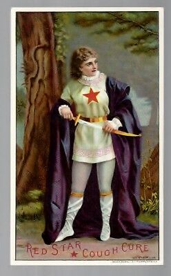 Red Star Cough Cure 1885 medicine trade card