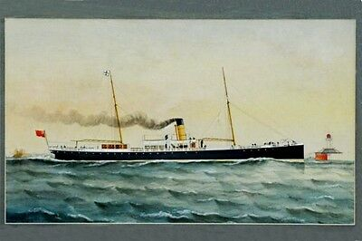 ADELAIDE of Adelaide SS Co by A V Gregory Art Postcard Modern Digital