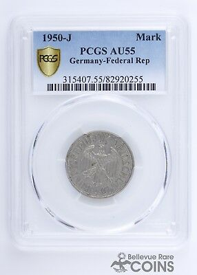 1950-J Germany - Federal Rep. 1 Mark PCGS AU55 (About Uncirculated) KM-110
