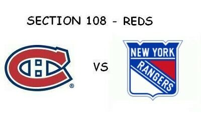 Canadiens vs Rangers, Oct. 28 - RED 108V