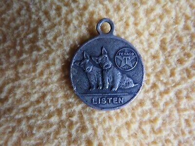 "Vintage 1"" 1930's Texaco Charm Medallion With Scottie Dogs"