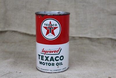 vintage TEXACO IMPROVED Oil Can ONE QUART