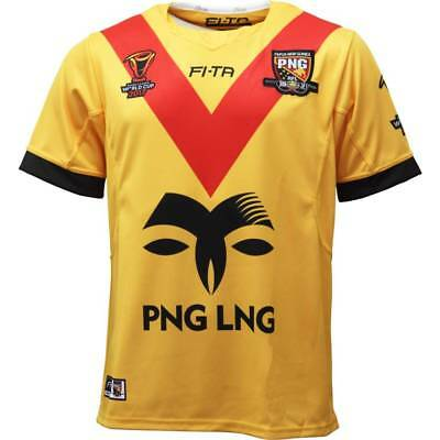 Papua New Guinea PNG Kumuls RLWC 2017 Home Jersey Sizes S-3XL!