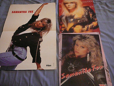 Lot Of 3 Samantha Fox Pin Up Posters Photos Affiches Clippings