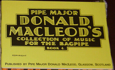 p/M donald macleod Buch 4 x Tunes for the Great Highland Dudelsack Biese