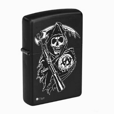 Zippo Lighter Sons Of Anarchy Grim Reaper Made In USA Free Express Postage