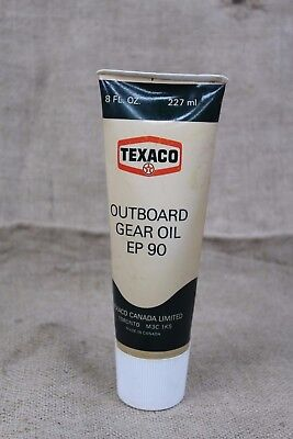 vintage TEXACO Outboard GEAR OIL plastic tube oil can advertising