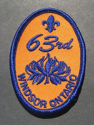 Boy Scouts Canada 63Rd Windsor Ontario Embroidered Patch Cubs