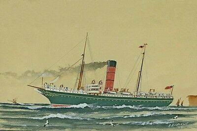 ROTOMAHANA UNION SS Co New Zealand digital Art Postcard Modern