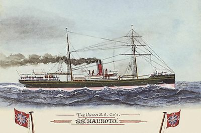 HAUROTO of the UNION SS Co New Zealand digital Art Postcard Modern