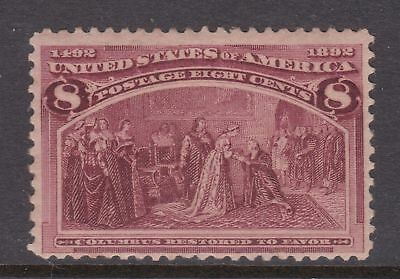 old USA stamps: 1893 8c Columbian Exposition Mint Unhinged