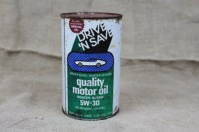 Hard to Find DRIVE N SAVE 1970s Imperial Oil Can vintage
