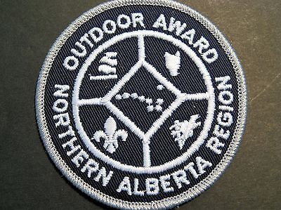 Boy Scouts Canada Cubs Northern Alberta Region Outdoor Award Small Silver Patch