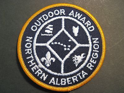 Boy Scouts Canada Cubs Northern Alberta Region Outdoor Award Small Gold Patch