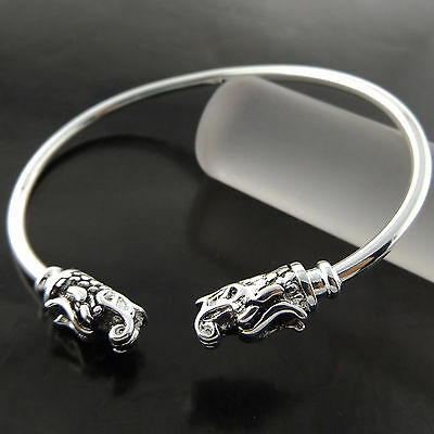 Fsa779 Genuine Real 925 Sterling Silver Sf Ladies Classic Xl Bracelet Anklet