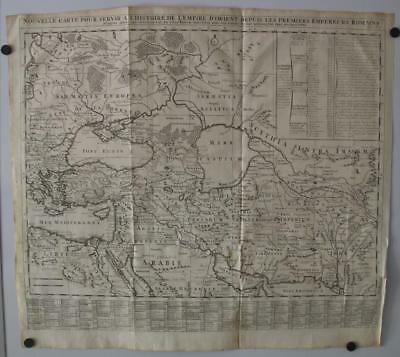Turkey Middle East Iran Iraq Eastern Roman Empire 1709 Chatelain Antique Map