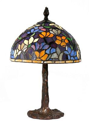 Tiffany Style Table Lamp Stained Glass Desk Floral Mission Craftsman Victorian