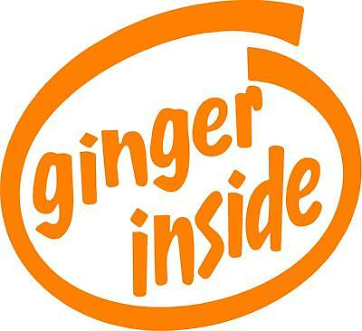 Ginger Inside FUNNY vinyl car decal. High Quality 130mm x 120mm