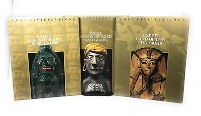 3 Time Life Books Lost Civilizations set hardcover: Incas Aztecs & Egypt