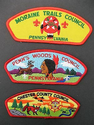 Boy Scouts Of America 3 Pennsylvania Maryland Bsa Csp Council Shoulder Patches