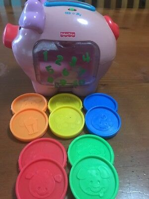 Fisher Price Talking Piggy Bank Musical And Counter. Complete In Superb Cond.